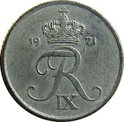 1 Øre - Frederik IX -  obverse