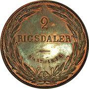 2 Rigsdaler - Frederik VII (Copper pattern strike) – reverse
