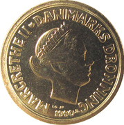 10 Kroner - Margrethe II (2nd portrait) -  obverse