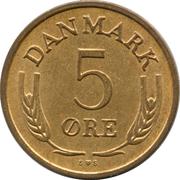 5 Øre - Frederik IX -  reverse
