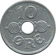 10 Øre - Christian X (German Occupation) -  reverse