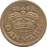 50 Øre - Margrethe II -  obverse