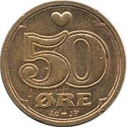50 Øre - Margrethe II -  reverse