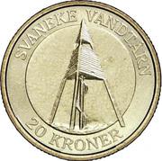 20 Kroner - Margrethe II (4th portrait; Svaneke Tower) -  reverse