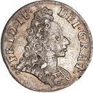 8 Skilling Dansk - Frederik IV (Type I) – obverse