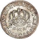 8 Skilling Dansk - Frederik IV (Type I) – reverse