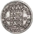 2 Skilling Dansk - Fredrik IV – reverse