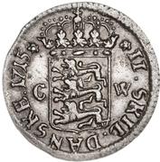 2 Skilling Dansk - Frederik IV – reverse