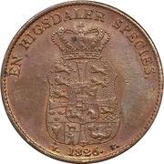 1 Speciedaler - Frederik VI (Copper pattern strike) – reverse