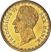 1 Frederik d'Or  - Frederik VI (Type 2; second head) – obverse