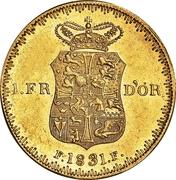 1 Frederik d'Or  - Frederik VI (Type 2; second head) – reverse