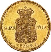 2 Frederiks d'Or  - Frederik VI (Type 2) – reverse