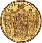 2 Christians d'Or  - Christian VIII – reverse
