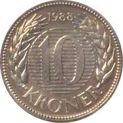 10 Kroner - Margrethe II (1st portrait) -  reverse