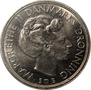 1 Krone - Margrethe II -  obverse
