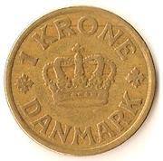 1 Krone - Christian X -  reverse