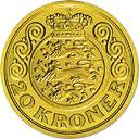 20 Kroner - Margrethe II (3rd portrait) -  reverse