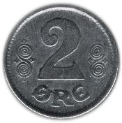2 Øre - Christian X – reverse