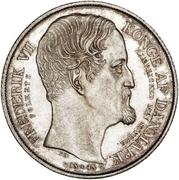1 Speciedaler - Frederik VII (Death and Accession) – obverse