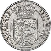 4 Mark Dansk - Christian V (Type I) – reverse