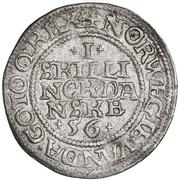 1 Skilling Dansk - Christian III (Copenhagen mint) – reverse
