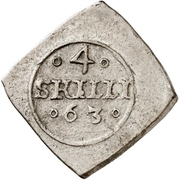 4 Skilling - Frederik II (Seven-Years War coinage) – reverse
