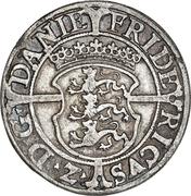 1 Mark Dansk - Frederik II (Copenhagen mint) – obverse