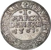 1 Mark Dansk - Frederik II (Copenhagen mint) – reverse