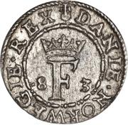 1 Hvid - Frederik II  (Frederiksborg mint) – obverse
