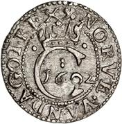 1 Hvid - Christian IV – reverse