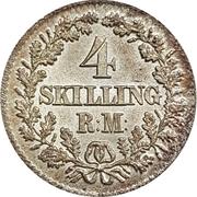 4 Skilling Rigsmønt - Frederik VII – reverse