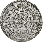 1 Skilling Dansk - Christian IV (Oval shield; date in legend) – obverse