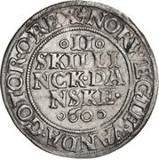 2 Skilling Dansk - Frederik II (Copenhagen mint) – reverse