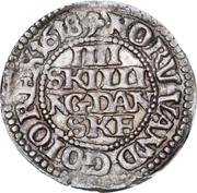 4 Skilling Dansk - Christian IV (Oval shield) -  reverse