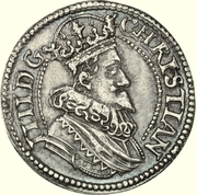 "½ ""Dicke"" Krone - Christian IV (Closed crown; King bust type) -  obverse"