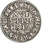 1/16 Reichs Thaler - Christian IV (Legend type II; bust type II) – reverse