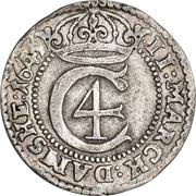 2 Mark Dansk - Christian IV (Hebræermønt) – obverse