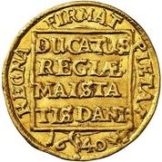 1 Ducat - Christian IV – reverse