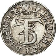 4 Mark Dansk - Frederik III (Type I) – obverse