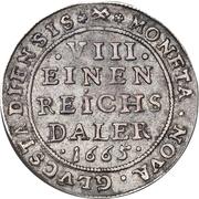 ⅛ Reichs Daler - Frederik III – reverse