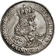 1 Speciedaler - Frederik III – obverse
