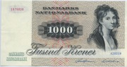1000 Kroner (1972 Serie Painting and Animal) -  obverse