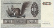 1000 Kroner (1972 Serie Painting and Animal) -  reverse