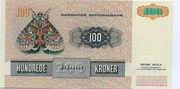100 Kroner. (Painting and Animal) – reverse