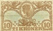 10 Kroner (Hailmann type I-III) – reverse
