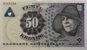 50 Kroner (1997 Serie Famous Men and Women Type 2) – obverse