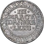 3 Mark Dansk - Frederik II (Copenhagen mint) – reverse