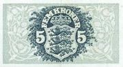 5 Kroner (Heilmann typeII) – reverse