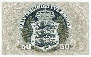 50 Kroner (Heilmann type II) -  reverse