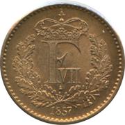 ½ Skilling Rigsmønt - Frederik VII – obverse